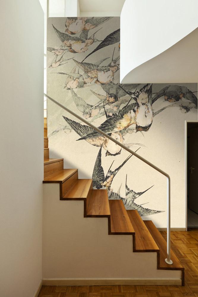 escalier hirondelles japon